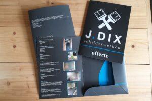 Van der Sloot Reclame - Drukwerk - J. Dix Schilderwerken