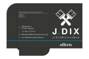 Van der Sloot Reclame - Ontwerpen - J. Dix Schilderwerken